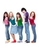 Estudiantes acertados Foto de archivo