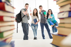 Estudiantes acertados Fotos de archivo
