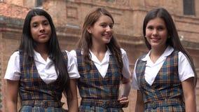 Estudiantes adolescentes bastante femeninos diversos Fotos de archivo