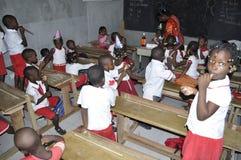 ESTUDIANTES AFRICANOS EN CLASE Fotos de archivo