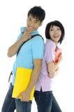 Estudiantes asiáticos Imagen de archivo libre de regalías