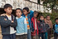 Estudiantes chinos de la escuela primaria Foto de archivo