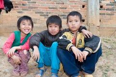 Estudiantes chinos de la escuela primaria Imagen de archivo libre de regalías