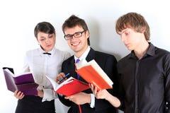 Estudiantes. Cierre para arriba. Imagen de archivo