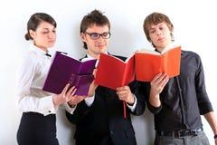 Estudiantes. Cierre para arriba. Fotos de archivo