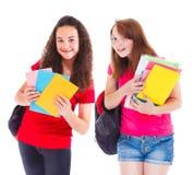 Estudiantes con los libros Imagenes de archivo