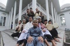 Estudiantes de la cabaña de Assalam Fotos de archivo libres de regalías