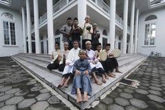 Estudiantes de la cabaña de Assalam Fotografía de archivo
