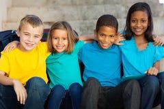 Estudiantes de la escuela primaria fotografía de archivo