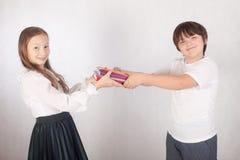 Estudiantes de la escuela primaria Foto de archivo