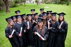 Estudiantes de la graduación Fotos de archivo