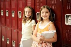 Estudiantes de Lockers Fotografía de archivo