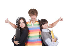 Estudiantes de los adolescentes Imágenes de archivo libres de regalías