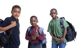 Estudiantes del afroamericano Imágenes de archivo libres de regalías