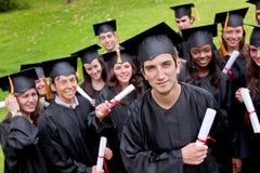 Estudiantes del graduado Foto de archivo libre de regalías