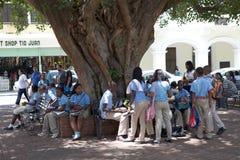 Estudiantes dominicanos Imágenes de archivo libres de regalías