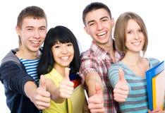 Estudiantes felices Fotografía de archivo libre de regalías
