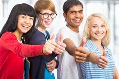 Estudiantes felices imagen de archivo