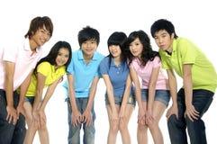 Estudiantes jovenes asiáticos Foto de archivo libre de regalías