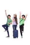 Estudiantes listos para el viaje Imágenes de archivo libres de regalías