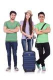 Estudiantes listos para el viaje Foto de archivo libre de regalías