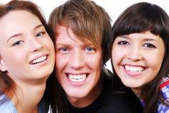 Estudiantes locos Foto de archivo libre de regalías