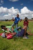 Estudiantes malgaches en Antananarivo, Madagascar Imagen de archivo libre de regalías