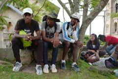 Estudiantes malgaches en Antananarivo, Madagascar Fotos de archivo
