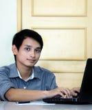 Estudiantes masculinos asiáticos Foto de archivo