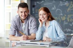 Estudiantes modernos Imagen de archivo libre de regalías