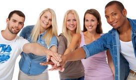 Estudiantes motivados Foto de archivo libre de regalías