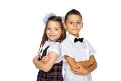 Estudiantes muchacho y muchacha Foto de archivo libre de regalías