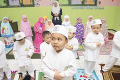 Estudiantes musulmanes fotos de archivo libres de regalías