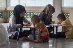 Estudiantes musulmanes foto de archivo libre de regalías