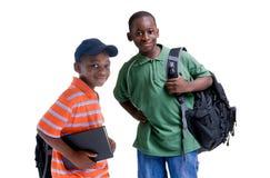 Estudiantes negros Imagen de archivo libre de regalías