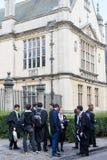Estudiantes, Universidad de Oxford. foto de archivo