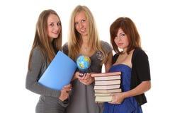 Estudiantes universitarios - aislados en blanco Imagen de archivo libre de regalías