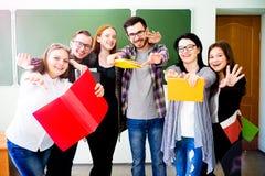 Estudiantes universitarios en una conferencia Fotos de archivo