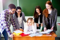 Estudiantes universitarios en una conferencia Fotografía de archivo libre de regalías