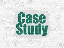 Estudiar concepto: Estudio de caso en fondo de la pared ilustración del vector