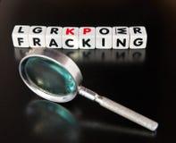 Estudiar fracking Fotografía de archivo libre de regalías