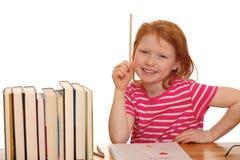 Estudiar a la muchacha Imágenes de archivo libres de regalías