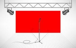 Estudio con el micrófono aislado Imagen de archivo libre de regalías