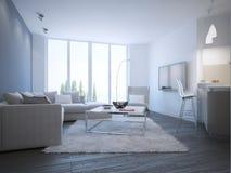 Estudio contemporáneo de la sala de estar Imagen de archivo libre de regalías