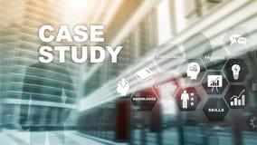 Estudio de caso Concepto del negocio, de Internet y del tehcnology libre illustration