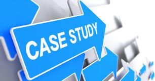 Estudio de caso - inscripción en el indicador azul 3d Fotos de archivo