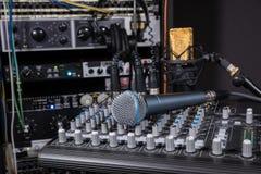 Estudio de grabación de la música Foto de archivo libre de regalías