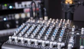 Estudio de grabación de la música - Art Shot Foto de archivo libre de regalías