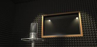 Estudio de grabación de los sonidos ilustración 3D Imagen de archivo
