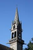 Estudio de la aguja adornada de la iglesia, Mellac, Bretaña Imagen de archivo